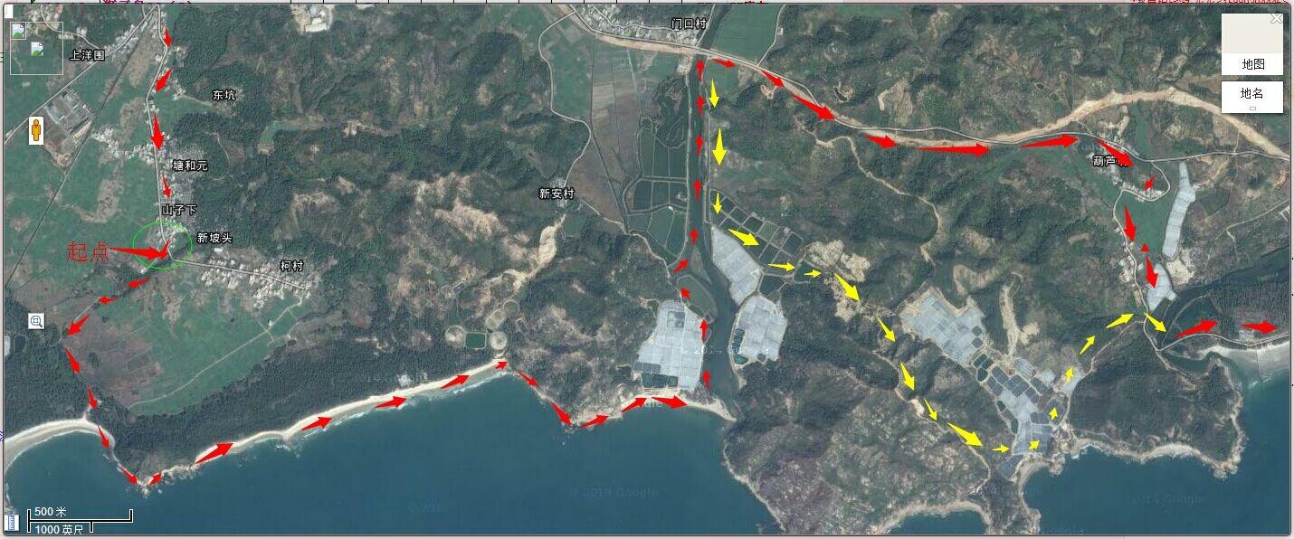 周日天山带队惠东狮子岛海岸线穿越 捞海星.捡贝壳